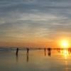 Pantai Parangtritis Sunset Merona Di Tengah Deburan Ombak